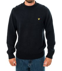 lyle and scott felpa uomo funnel rool top knitted jumper kn1365v.z271
