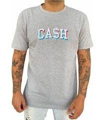 camiseta cash cinza - masculino