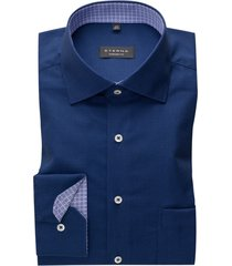 donkerblauw shirt geprint eterna comfort fit