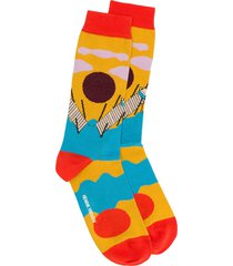 henrik vibskov intarsia knit socks - yellow