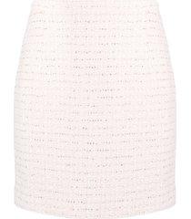 alessandra rich high-waisted tweed skirt