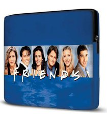 capa para notebook friends 15 polegadas azul - unissex