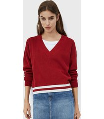sweater pepe jeans rojo - calce holgado