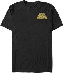 fifth sun star wars men's distressed slant logo short sleeve t-shirt