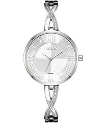 reloj para dama marca loix ref  l1169-01 plateado