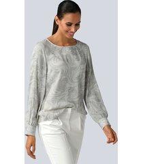 blouse alba moda lichtgrijs::offwhite
