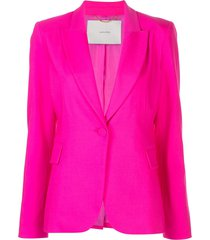 adam lippes fitted single-breasted blazer - pink