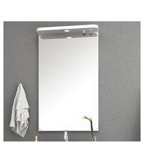 espelheira para banheiro com tomada e led lilies móveis
