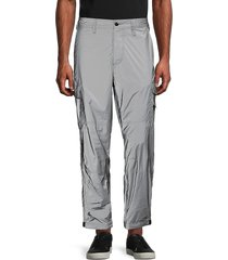 french connection men's reflective pants - grey - size 30