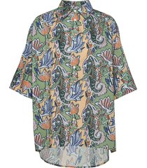 dusty shirt blouses short-sleeved multi/patroon hope