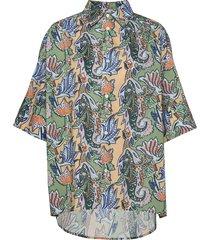 dusty shirt overhemd met korte mouwen multi/patroon hope