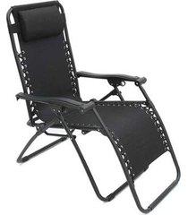 cadeira espreguiçadeira pelegrin pel-002z gravidade zero em tecido e metal