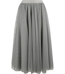 fabiana filippi perforated pleated skirt