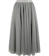 fabiana filippi perforated pleated skirt