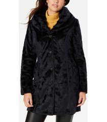 laundry by shelli segal reversible faux-fur coat
