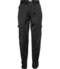 skunk polyester casual broek zwart holzweiler