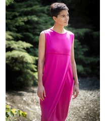 sukienka midi z kontrafałdą
