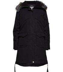 osaka w parka jacket parka lange jas jas zwart halti