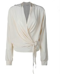 summum 2s2529-111 blouse wrap fluid viscose