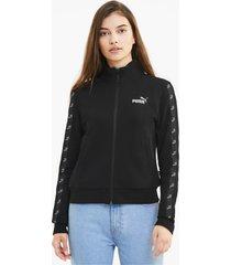 amplified full zip trainingsjack voor dames, zwart, maat l | puma