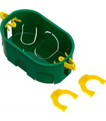 """caixa de luz oval de embutir em pvc dryfix eletroduto 4x2"""" verde"""
