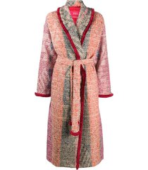 f.r.s for restless sleepers belted knit coat - pink
