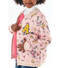 chaqueta bomber casual rosa going merry