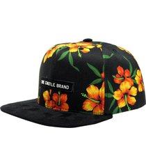 boné hosh wear aba reta snapback floral woody colorido preto