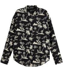 blouse oversized zwart