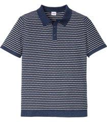 polo in maglia a maniche corte (blu) - john baner jeanswear