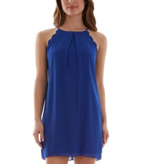 bcx juniors' scalloped a-line dress