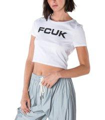 fcuk cropped t-shirt