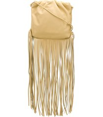 bottega veneta the fringe pouch shoulder bag - neutrals