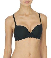 natori statement contour underwire bra, women's, black, size 36dd natori
