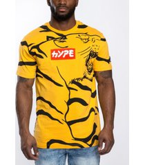 southpole men's tiger chenille logo patch all over graphic t-shirt