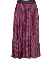 skirts knitted knälång kjol lila esprit casual