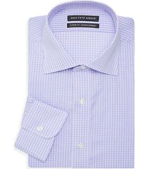 classic-fit checkered dress shirt