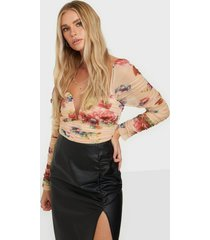 rare london floral rouched body bodys