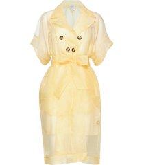 devore jurk knielengte geel baum und pferdgarten