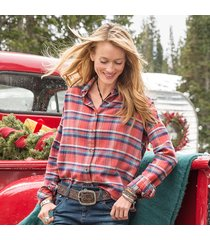 feminine charm plaid shirt