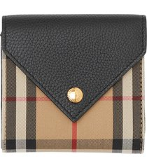 women's burberry vintage check folding wallet -