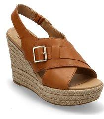 w claudeene sandalette med klack espadrilles brun ugg