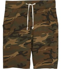 alternative apparel men's victory modern fit printed burnout french terry shorts green camo - size: xxl