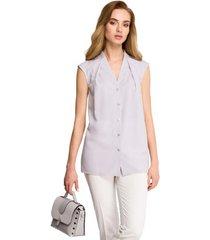 blouse be b102 open blazer van katoen-blend - militair groen