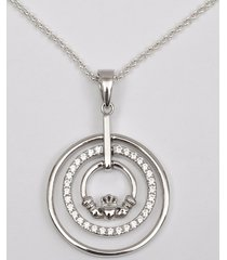 claddagh double ring pendant