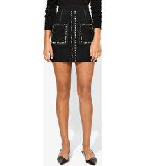 proenza schouler studded mini skirt black/silver 4