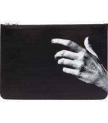 neil barrett the other hand clutch bag - black