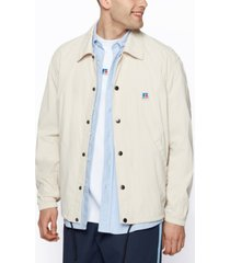 boss x russell athletic men's relaxed-fit jacket