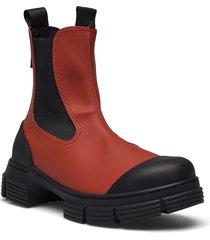 recycled rubber regnstövlar skor röd ganni