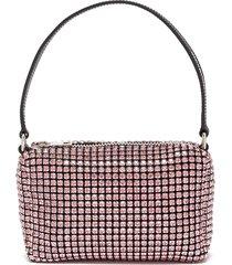 'heiress' rhinestone embellished pouch logo medium top handle bag